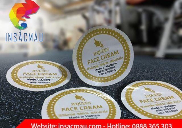Các chất liệu decal dùng in logo dán sản phẩm